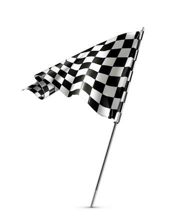 black flag: Checkered flag Illustration
