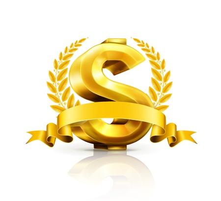 Dollar sign, emblem Vector