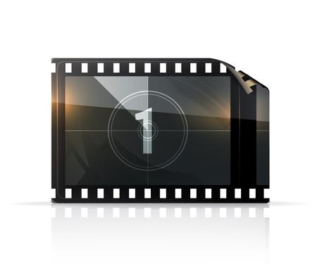 camara de cine: Tira de película