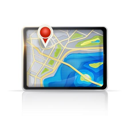 global navigation system: GPS map