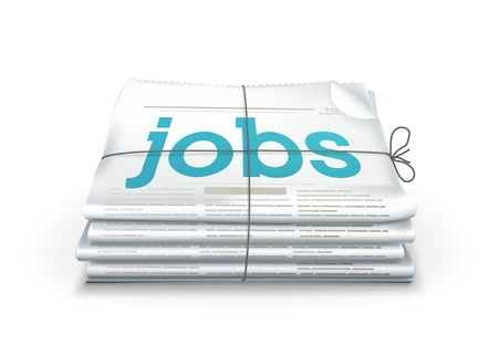 folded newspaper: Jobs