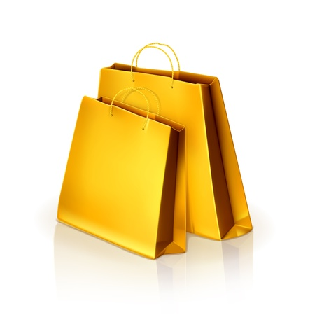 a bag with gifts: Paper bags Illustration