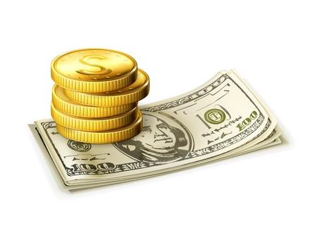stack of cash: Dinero Vectores