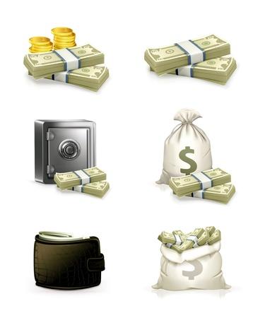 El papel moneda, juego Ilustración de vector