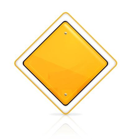 road warning sign: Prioridad de se�al de tr�fico