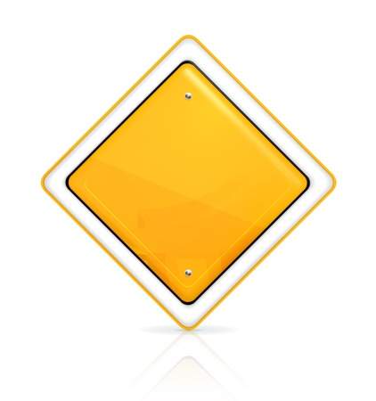 highways: Priority road sign