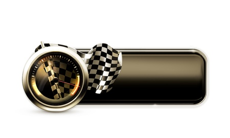 bandera carrera: Banner Racing Vectores