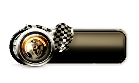 checkered flag: Racing banner