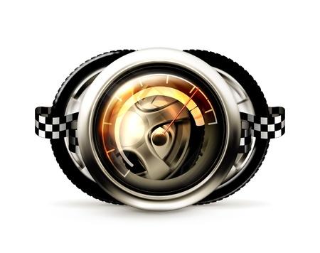 motor car: Racing banner