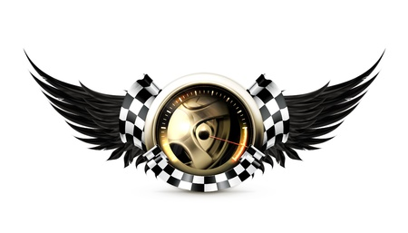 power meter: Racing emblem
