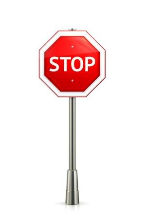 señal de transito: Señal de stop Vectores