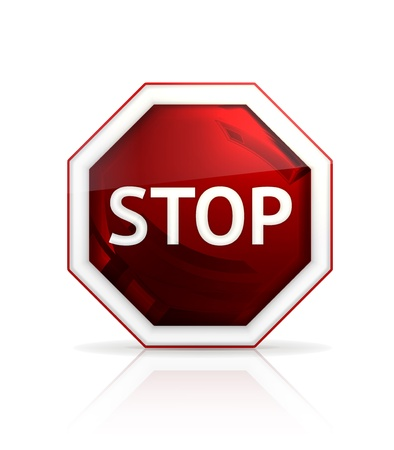 Stop sign Stock Vector - 13898708