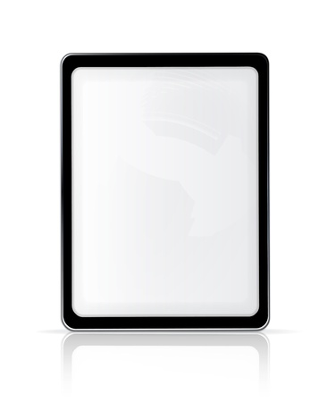 Touch screen, vertical Stock Vector - 13898701