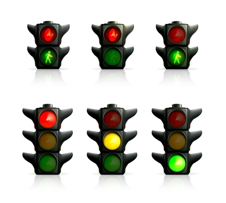 Traffic lights Stock Vector - 13898915