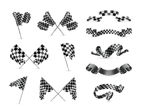checker flag: Banderas a cuadros, establecer