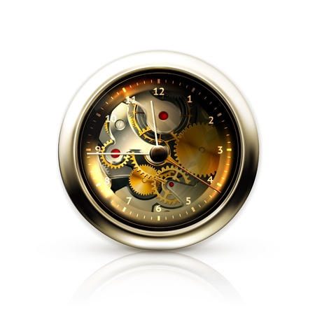 Mechanical clock Stock Vector - 13899612