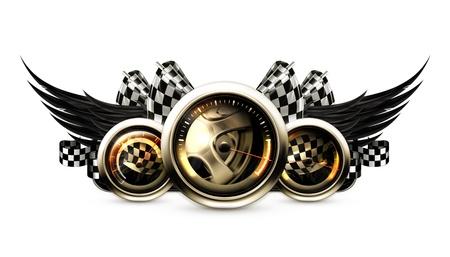 dashboard background: Racing emblem
