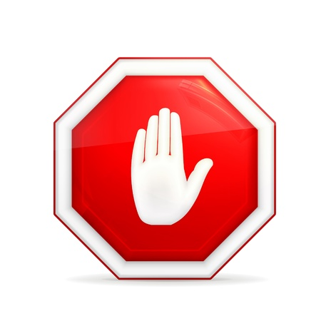 warning attention sign: Stop sign Illustration