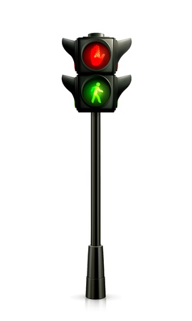 pedestrian traffic lights: Semáforo Vectores