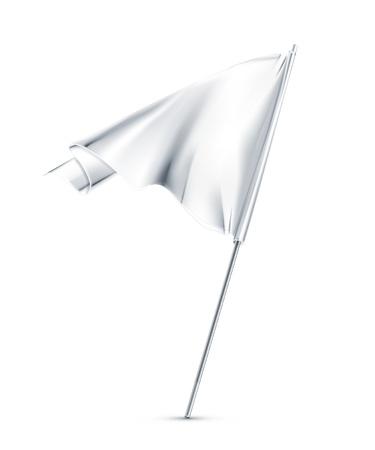 surrendering: White flag