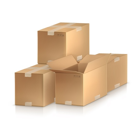 Cardboard boxes Stock Vector - 13899313