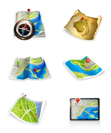 Maps, set Stock Vector - 13899607