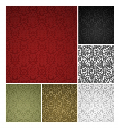 Seamless pattern, six colors Vector