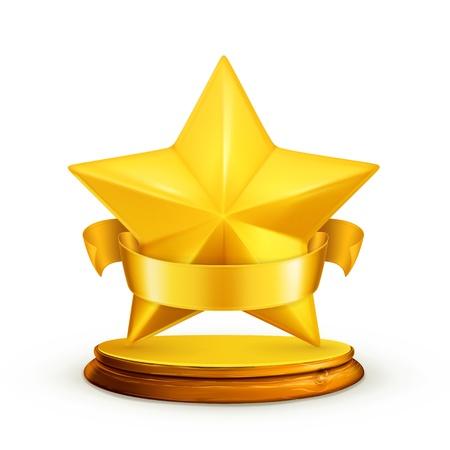 Gwiazda, ikona Ilustracje wektorowe