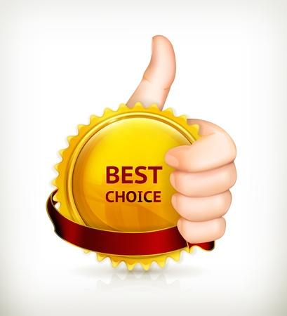 excellent: Best choice Illustration