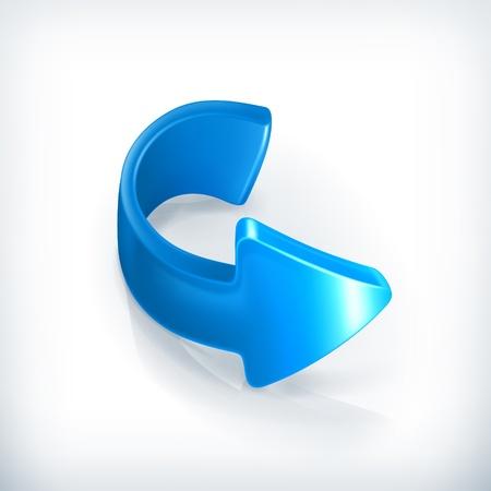 rewind icon: Blue right arrow