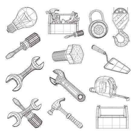 Drawing tools set Stock Vector - 13899898