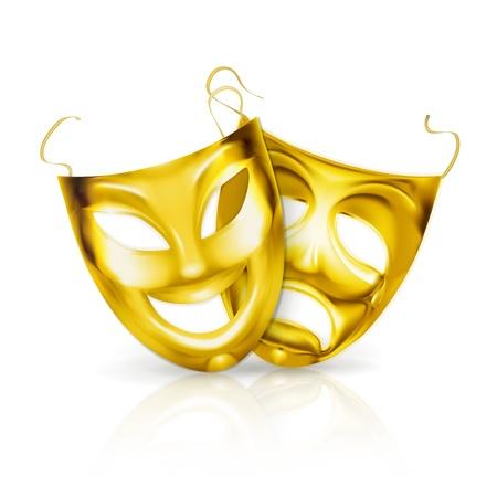 Maschere teatrali oro
