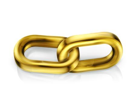 Chain link Stock Vector - 13899954