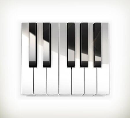 teclado de piano: Octava, teclas de un piano