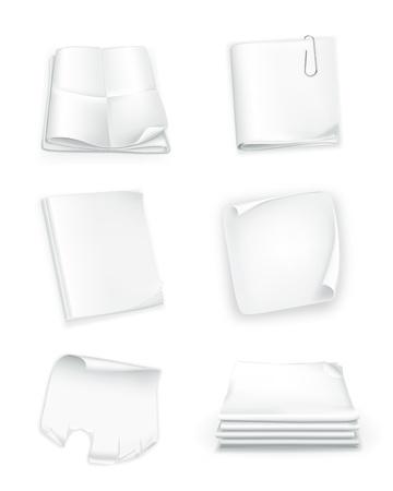notebook design: Paper set Illustration