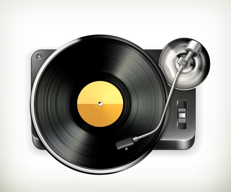 gramophone: Phonograph turntable