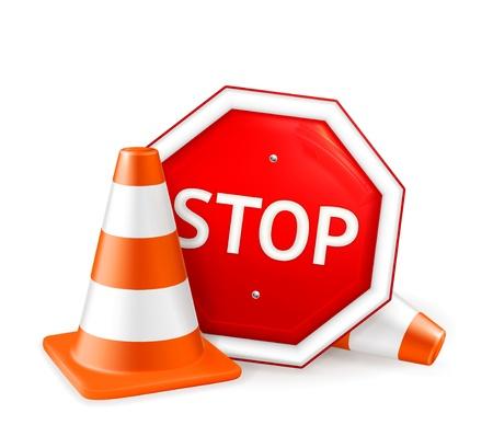 señales preventivas: Reparación de caminos