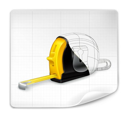 Tape measure drawing Stock Vector - 13899957