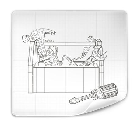 equipos: Herramienta de dibujo de la caja Vectores