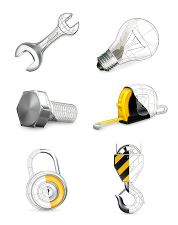Tools set Stock Vector - 13899971
