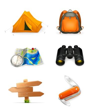 pfadfinderin: Tourismus-Icon-Set