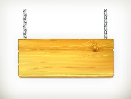 Wooden sign Stock Vector - 13900013
