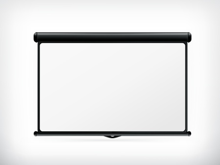 screen: Blank Projection screen Illustration
