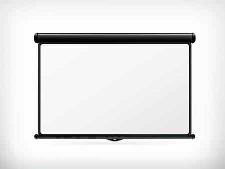 Pusty ekran projekcyjny