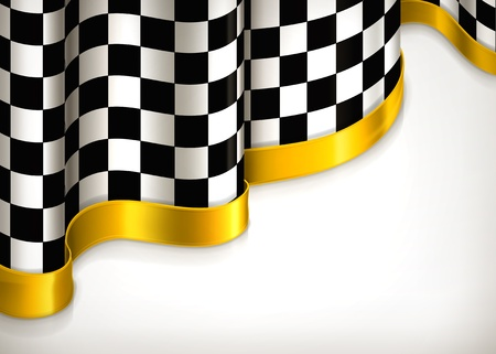checker flag: Checkered invitation background