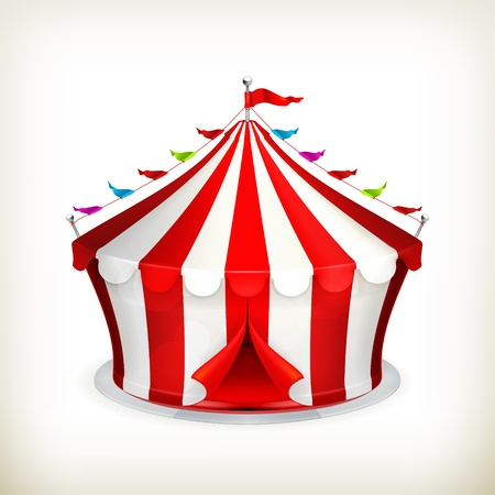 cartoon circus: Circus Illustration