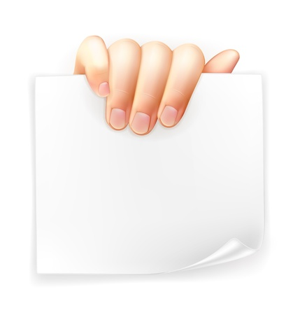Hand holding paper Stock Vector - 14277262