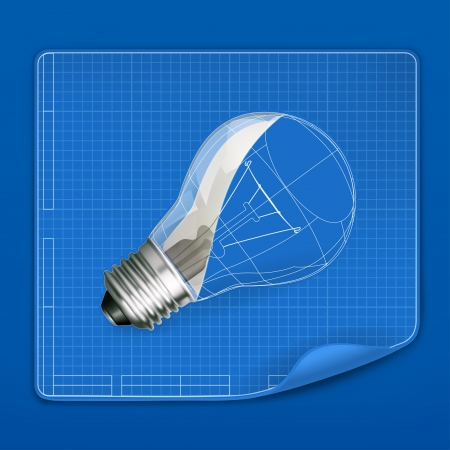 lightbulb: Lamp drawing blueprint