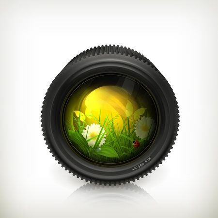 Lens, icon Stock Vector - 14277382