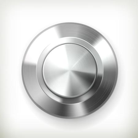 cromo: Botón de metal